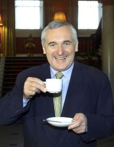A GENUINELY HAPPY AND RELAXED  BERTIE AHERN IS PICTURED YESTERDAY(SUNDAY) . PIC MAXPIX.