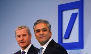 Juergen Fitschen and Anshu Jain, Co-CEO's of Deutshe Bank