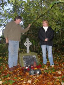Eamonn and Ann Tuohey on teh banks of teh River Brosna in Clare where Shane's body was discovered
